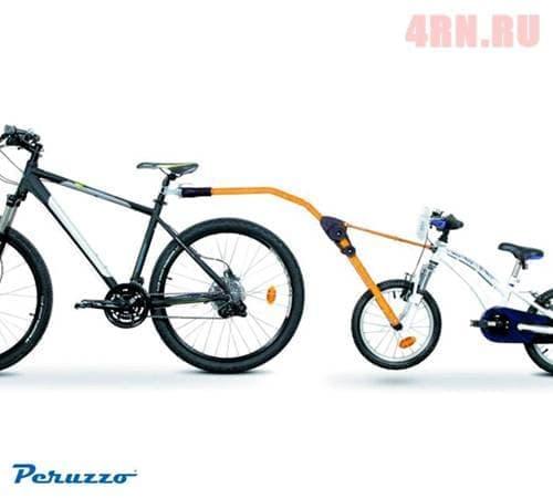 Прицепное устройство детского велосипеда к взрослому желтое № PZ 300-G