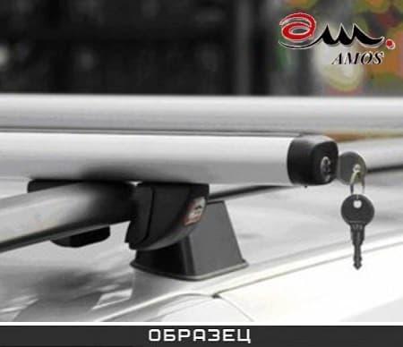 Багажник Amos Futura на рейлинги с аэродин. дугами для Porsche Cayenne II 5-дв. (2010-2017) № futura-f1.4l