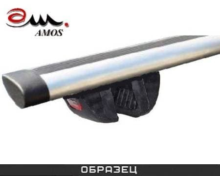 Багажник Amos Futura на интегрированные рейлинги с аэро-альфа дугами для Opel Vectra C универсал (2003-2008) № futura-a1.2