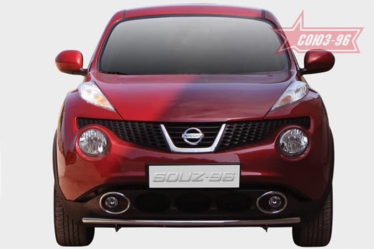 Защита переднего бампера труба d42 Premium для Nissan Juke (2011-2018) № NJUK.48.1541