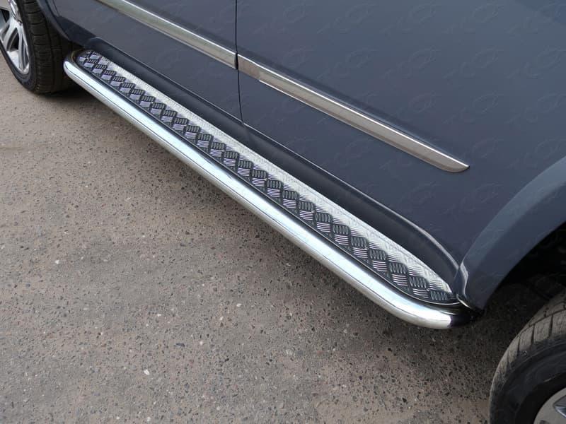 Пороги с площадкой 60,3 мм для Cadillac Escalade (2015-2018) № CADESC15-12