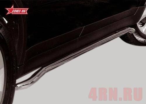 Защита штатного порога d42 для Subaru Tribeka (2007-2014) № SUTR.86.0314