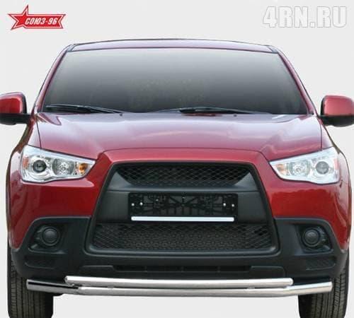 Защита переднего бампера d60/42 двойная для Mitsubishi ASX (2010-2016) № MASX.48.1122
