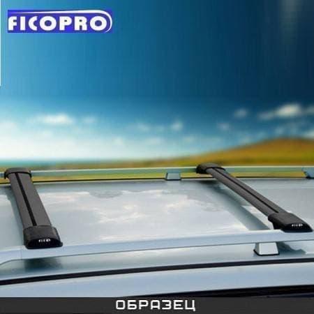 Багажные поперечины Fico на рейлинги черные для Toyota Land Cruiser 200 (2007-2018) № R47-B