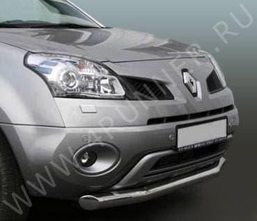 Защита переднего бампера d76 одинарная для Renault Koleos (2008-2016) № RENK.48.0728