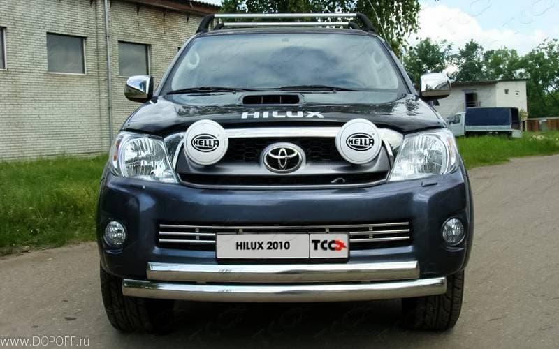 Решетка радиатора 16 мм для Toyota Hilux (2010-2015) № TOYHILUX10-04